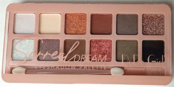 """DoDo Girl Surreal Dream Eyeshadows Palette D3179 """"A"""" палета теней для век 12 цветов"""