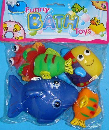 """Набор пищалок для ванны """"Рыбки""""из 5 шт"""