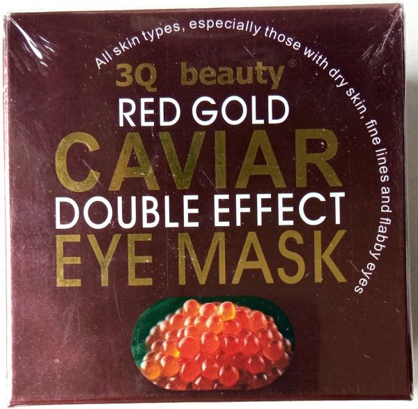 Патчи гидрогелевые 3Q beauty Red Gold double effect для лица с красной икрой 60 шт.
