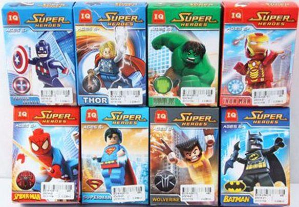 """Набор конструкторов минифигурок IQ-20014-21 серии """"Super Heroes"""" из 8 шт."""