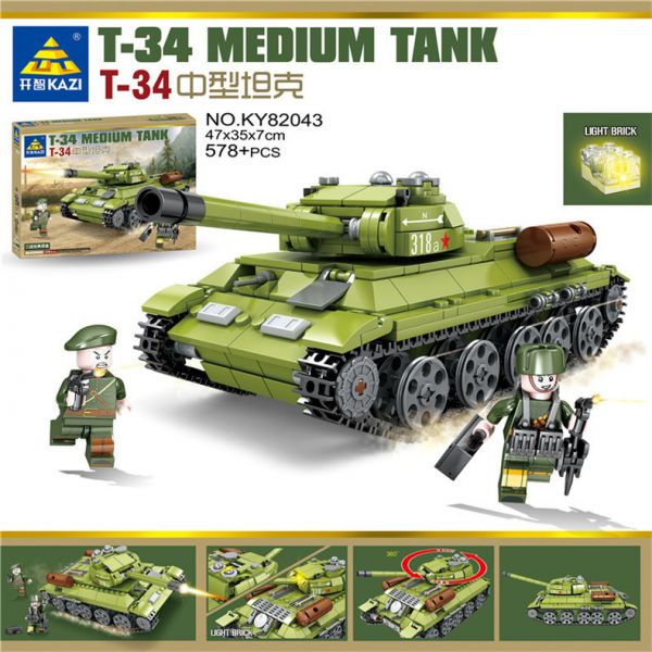 """Конструктор KAZI-82043 серии """"ARMY"""" """"Танк Т-34"""""""