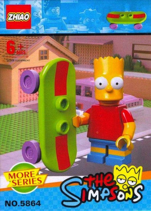 """Набор конструкторов минифигурок JLB-9901 """"The Simpsons"""" из 6 шт"""